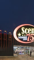 Scene 75 facade at dusk in Milford, Ohio.