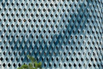 Detail of the IwamotoScott Facade for the Miami Design District City View Garage.