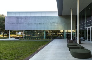 Exterior of Davidson-Gundy Alumni Center featuring Louvered ZIRA perforated panels.