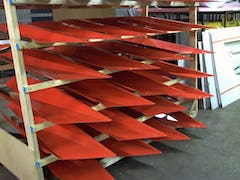 Aluminum fabricated-metal forms with custom printed and mounted graphics.