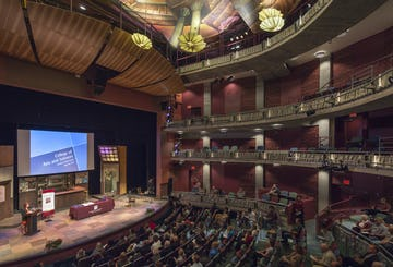 Interior of the theater at NMSU Center for the Arts.