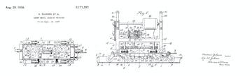 Zahner patent for historic Sheet Metal Seaming Machine.