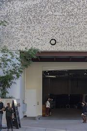 Detail of the Waiea facade.