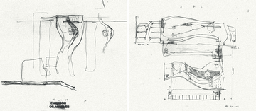 Preliminary sketch by Thom Mayne of Morphosis for Emerson LA.