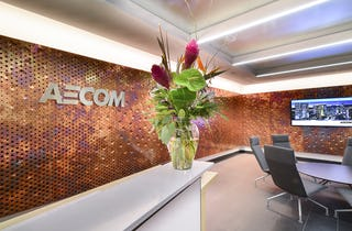 AECOM Reception area at the Cleveland office