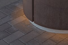 Detail of the Solanum Steel column cover at the Omni Hotel in Nashville.