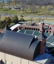 Copper roof on Starlight Theatre.