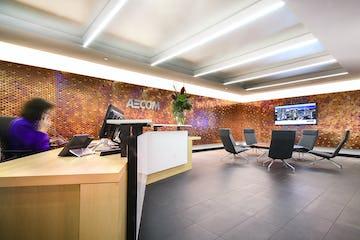 AECOM Cleveland office reception area