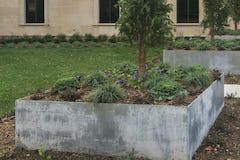 Custom planter for the Spencer Art Museum.