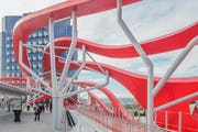 Custom ZEPPS canopy system for Petersen Museum.