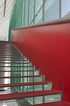 Slow staircase at Juilliard.