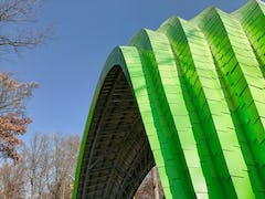 Custom bandshell canopy for Chrysalis at Merriweather Park.
