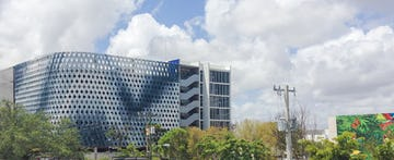 Eastern view of the IwamotoScott Facade for the Miami Design District City View Garage.