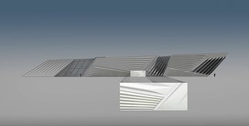 Section of the Broad Museum selected for Zahner's Mockup.