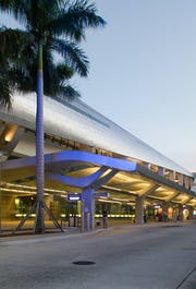 Miami Intermodal Center metal clad ZEPPS® panels with Angel Hair® Stainless Steel.