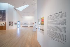 Ohr O'Keefe Museum gallery interior designed by Frank Gehry Partners with Eley Guild Hardy Architects.