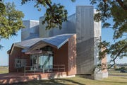 Ohr-O'Keefe Museum Gallery of African-American Art designed by Frank Gehry Partners.