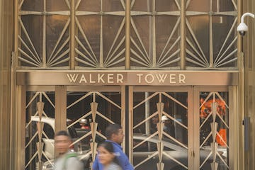 Entrance doors and sidelites for Walker Tower.