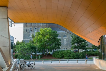 Orange soffit gates hall morphosis