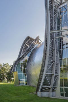 Photographs of the Fisher Center at Bard College.