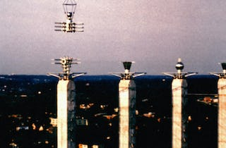 Hanging the Bartle Hall Sky Stations with a Sikorsky Skycrane.
