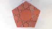 Custom cut terracotta.
