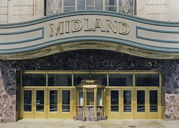 Restored Midland Theatre in the early 1990's.