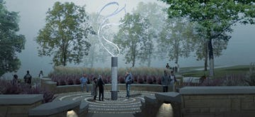 Rendering of the Hyatt Memorial Sculpture