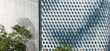 Detail of the IwamotoScott Facade for the Miami Design District City View Garage.