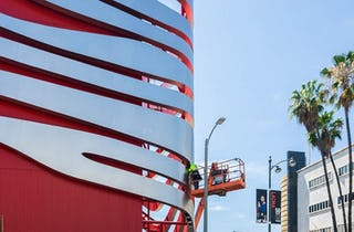 The New Facade for Petersen Museum Nears Completion