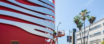 Petersen automotive museum nears completion 1200x506