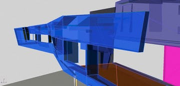 Zahner engineered a CAD layout of the panels on the Gulf Islands Residence.