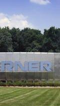 Cerner signage wall at the Cerner World Headquarters.