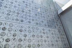 Detail of the ocean-facing Plankton Wall at the Exploratorium in San Francisco.