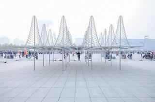 So il spiky installation beijing designboom 01