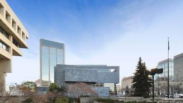 Flatseam preweathered zinc panels on the Art Gallery of Alberta