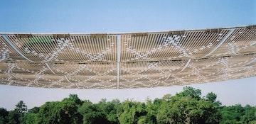 Noisette park pavilion sheet install detail