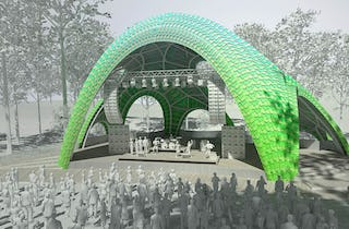 Pavilion Design by Marc Fornes Will Use Zahner Technology for Making Dual Curves