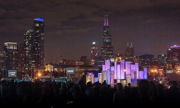 Creating the The Great Chicago Fire Festival with Redmoon using ImageWall perforated metal.