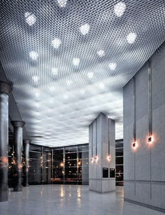 Cast aluminum ceiling for the American Medical Association in Chicago.