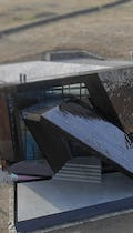 Overhead view of the Connecticut residence, designed by Studio Daniel Libeskind.