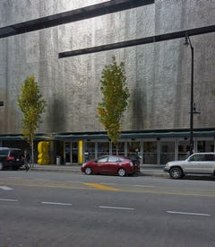 View of the Fairmont Pacifc Rim facade.