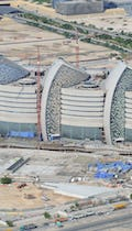 Aerial photograph of Sidra, substantially completed.