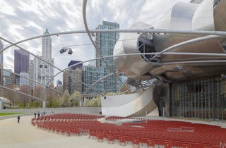 The Pritzker Pavilion at Millennium Park featured in ArchRecord