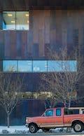 Hoag Public Library copper facade.
