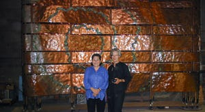 Photograph of Ramona Sakiestewa (Artist) and Ilze Jones (Architect) for the Smithsonian National Museum of the American Indian in Washington D.C.