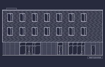 West elevation pattern layout