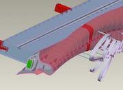 CAD Diagrams showing individual Zahner assembly parts