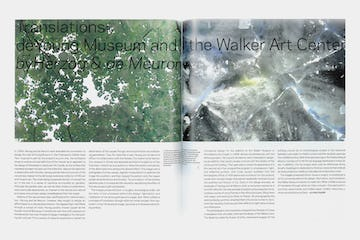 Opening pages of Translation: de Young Museum and the Walker Art Center by Herzog & de Meuron