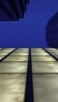 Silver Towers bridge floors at dusk.
